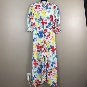 RIXO x Target white floral maxi dress sz 6